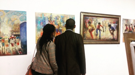 Clients in awe of the artwork