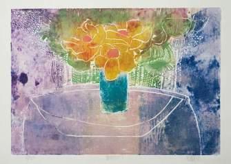 Anemone 1 1988 29x41 Lino