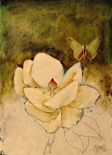 Magnolia 2016 50x37 Oil on paper on board
