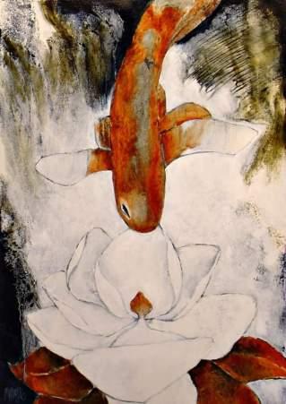 Magnolia en Vis 2016 77x54 Oil on canvas
