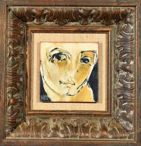 Portret 2002 12x12 Oil on canvas/board