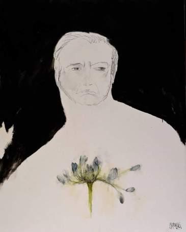 Portret met windblom 2016 113x89 Oil on canvas