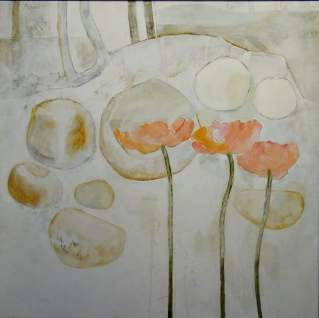 Witland: Drie papawers 1977 90x90 Oil on canvas