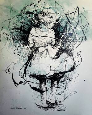SOLD Tomorrow VI - Acrylic enamel on canvas